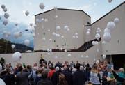 Am Jubiläumsfest wurden unter anderem Ballone auf eine unbekannte Reise geschickt. (Bild: PD)