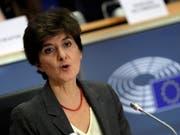 Die französische EU-Kommissionskandidatin Sylvie Goulard ist am Donnerstag in Brüssel vom EU-Parlament abgelehnt worden. Vergeblich hatte die Französin versucht, Zweifel an ihrer Integrität auszuräumen. (Bild: KEYSTONE/EPA/OLIVIER HOSLET)