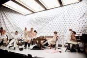 Auch die sehr freie Inszenierung von «Der zerbrochne Krug» war umstritten (Premiere 19.2.2016) (Bild: Ilja Mess/Theater Konstanz)