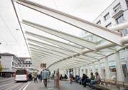 Die Calatrava-Wartehalle weist Altersschwächen auf. Die Tragsicherheit ist aber noch gegeben. (Bild: Ralph Ribi)