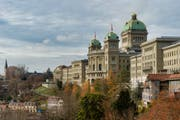 Das Ziel der Nationalratskandidatinnen und -kandidaten: das Bundeshaus in Bern. (Bild:Benjamin Manser)