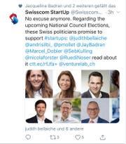 Der Swisscom-Tweet des Anstosses. (Screenshot: CH Media)