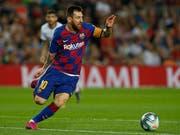 Lionel Messi feierte in Barcelona sein Zirkus-Debüt (Bild: KEYSTONE/AP/JOAN MONFORT)