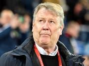Dänemarks Nationaltrainer Age Hareide lobte das Zusammengehörigkeitsgefühl in seiner Mannschaft (Bild: KEYSTONE/WALTER BIERI)