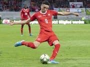 Ruben Vargas, hier im Match der A-Nationalmannschaft gegen Gibraltar, verstärkte die Schweizer U21 nicht nur mit seinem Tor nachhaltig. (Bild: KEYSTONE/PETER SCHNEIDER)