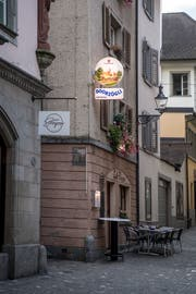 Das «Doorzögli» liegt am Stiefelplatz in der Luzerner Altstadt. (Bild: Nadia Schärli, Luzern, 1. Oktober 2019)