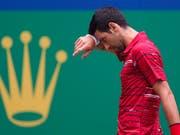 Novak Djokovic verliert in Schanghai gegen die Griechen Stefanos Tsitsipas (Bild: KEYSTONE/AP/ANDY WONG)