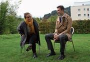 Anna Miotto (Juso) und Noah Menzi (Jungfreisinnige) kandidieren für den Nationalrat. (Bild: Martin Knoepfel)