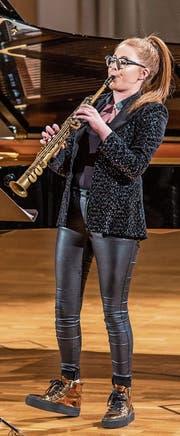 Jess Gillam bei ihrem Debüt-Auftritt im Rahmen des Lucerne Festivals am 27. August 2019 in der Lukaskirche. (Bild: Patrick Hürlimann/Lucerne Festival)