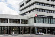 Der Hauptsitz der Schwyzer Kantonalbank. (Bild: Keystone/Alexandra Wey, Schwyz 12. Mai 2017)