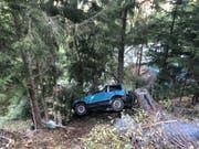 Aus diesem Autowrack konnte der Fahrer nur noch tot geborgen werden. Der Beifahrer wurde leicht verletzt. (Bild: Kantonspolizei Wallis)