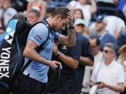 Keine guten Erinnerungen: Seit seinem Viertelfinal-Out am 3. September am US Open stand Stan Wawrinka nicht mehr im Einsatz (Bild: KEYSTONE/EPA/JUSTIN LANE)