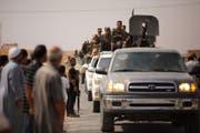 Truppen auf dem Vormarsch in Syrien. (Bild: Keystone)