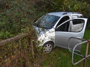 Als sie mit dem Auto nicht mehr weiterkam, flüchtete die Frau zu Fuss weiter. (Bild: Kapo)