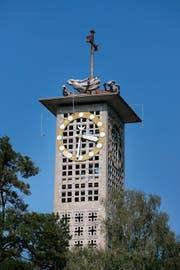Der Turm der Maihofkirche in Luzern. (Archivbild LZ)