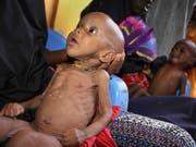 Ein unterernährtes Kind in einem Lager nach der Flucht vor Dürre in Somalia. (Bild: KEYSTONE/AP/FARAH ABDI WARSAMEH)