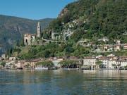 Das Tessiner Dorf Morcote, einer der 20 ausgewählten Orte des Projektes «Verliebt in schöne Orte» von Schweiz Tourismus und Bundesamt für Kultur. (Bild: KEYSTONE/TI-PRESS/PABLO GIANINAZZI)