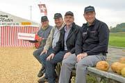 Die vier Heinzen Schadegg, Nater, Schläpfer und Wegmüller freuen sich auf das erste Heinzentreffen im Festzelt zwischen Weinfelden und Märstetten. (Bild: Mario Testa)