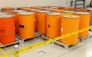 Sie sollen dereinst tief unter die Erde: Radioaktive Abfälle lagern im Zwischenlager bei Würenlingen. (Bild: Keystone)