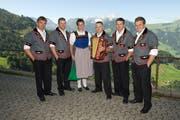Die Jodlerfamilie Herger aus Buochs. (Bild: PD)
