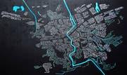 Der Frauenfelder Stadtplan mit den eingezeichneten Ideen und Wünschen. (Bild: PD)