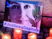 Die regierungskritische Journalistin Daphne Caruana Galizia ist vor zwei Jahren in ihrem Auto in die Luft gesprengt worden. (Bild: KEYSTONE/EPA/CLEMENS BILAN)