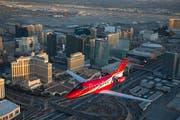 Ein PC-24-Jet über Las Vegas. (Bild: Pilatus Aircraft Ltd)