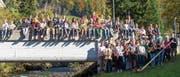 Geselligkeit und Musik als verbindendes Element: Rund 50 Jugendliche musizieren derzeit im toggenburgischen Stein. Bild: PD
