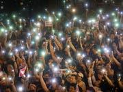 Das US-Repräsentantenhaus zeigte sich in einem Gesetzesbeschluss solidarisch mit den Anti-Regierungsprotestlern in Hongkong. (Bild: KEYSTONE/EPA/VIVEK PRAKASH)