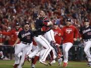 Die Freude bei den Spielern der Washington Nationals über das Erreichen der die World Series ist gross (Bild: KEYSTONE/EPA/SHAWN THEW)