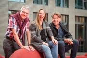 Von links nach rechts: Andreas Schweizer, Roxana Ionesco-Beck und Ernst Brunner. (Bild: Hanspeter Schiess)