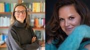 Gäste in der live ausgestrahlten SRF1-Talk-Sendung «Persönlich» vom Sonntag in der Lokremise St.Gallen sind Irène Mürner (links) und Caroline Chevin. (Bilder: Radio SRF)