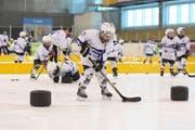 Am «Swiss Ice Hockey Day» können Kinder und Jugendliche bis etwa 16 Jahren schweizweit erste Eishockey-Erfahrungen sammeln. Dies auch in der Eissportanlage Lerchenfeld. (Bild: PD)