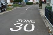 Im Weidegg-Quartier soll künftig Tempo 30 gelten. (Bild: PD)
