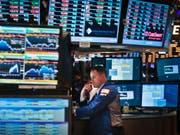 Ein Händler bei der Arbeit an der Börse in New York. (Bild: KEYSTONE/AP/Bebeto Matthews)