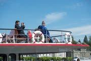 Das Dampfschiff Uri der SGV bei der Abfahrt in Luzern. (Bild: Dominik Wunderli)