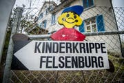 Die Kinderkrippe Felsenburg an der Kreuzlinger Gaissbergstrasse. (Bild: Reto Martin - 10.2.2017)