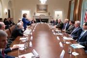 Nannte die Vorsitzende des US-Repräsentantenhauses, Nancy Pelosi, eine «drittklassige Politikerin»: US-Präsident Donald Trump. (Bild: Twitter)