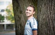 Volley-Luzern-Captain Nick Amstutz blickt optimistisch auf die bevorstehende NLA-Saison. Bild: Manuela Jans-Koch (Luzern, 10. Oktober 2019)