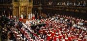 Das House of Lords. Das Bild vergrössert sich durch Anklicken. (Bild: Keystone)