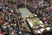 Das House of Commons. Das Bild vergrössert sich durch Anklicken. (Bild: Keystone)