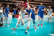 In den vergangenen Jahren fanden in St.Gallen verschiedene internationale Unihockey-Turniere statt. Darunter war 2018 die U19-Weltmeisterschaft der Frauen. Im Bild eine Szene des Spiels Schweiz gegen Slowakei. (Bild: Benjamin Manser - 2. Mai 2018)