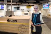 Sibylle Haas, Filialleiterin, an ihrem neuen Arbeitsplatz. (Bild: Pius Amrein, Kriens, 18. Oktober 2019)