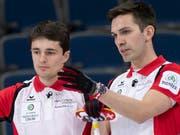 Die Genfer Peter De Cruz (rechts) und Benoît Schwarz müssen sich im eigenen Land einer harten Konkurrenz erwehren (Bild: KEYSTONE/AP The Canadian Press/PAUL CHIASSON)