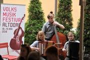 Das Volksmusikfestival in Altdorf findet wieder stattt. Impressionen von der Stubetenbühne Schützenmatt. (Bild Urs Hanhart)