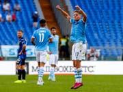 Ciro Immobile trifft beim 3:3 gegen Atalanta Bergamo zwei Mal vom Penaltypunkt (Bild: KEYSTONE/AP ANSA/ANGELO CARCONI)