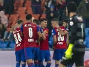 Die Basler behaupten sich an der Spitze der Super League (Bild: KEYSTONE/GEORGIOS KEFALAS)