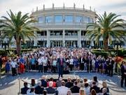 Donald Trump im Jahr 2016 - damals noch als Präsidentschaftskandidat - bei einer Rede vor seinem Golfclub «Trump National Doral» in Miami im US-Bundesstaat Florida. (Bild: KEYSTONE/AP/EVAN VUCCI)