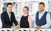 Haben ihr Studium erfolgreich abgeschlossen: Sven Keller, Jacqueline Janssen und Adrian Hnatek (von links). (Bild: PD)