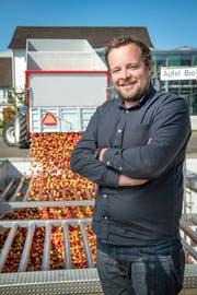 Gut 300 Bauern liefern ihr Obst direkt bei der Mosterei Möhl ab. (Bild: Urs Bucher)